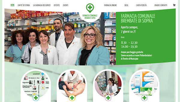 Screenshot del sito Farmacia Comunale Brembate di sopra